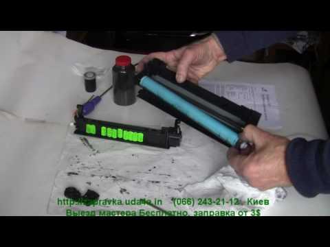 Как заправлять лазерный картридж hp