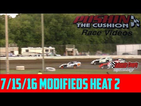 Lafayette County Speedway 7/15/16 Modifieds Heat 2