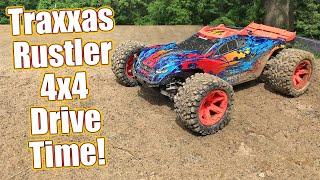 Speed Runs & Dirt Jumps! Traxxas Rustler 4x4 VXL Full Upgrade Project Truck Part 5   RC Driver
