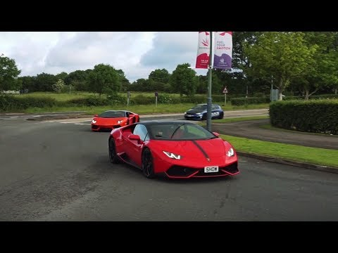 Supercars and tuned cars arriving to event - June 2017