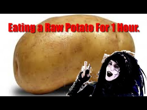 Eating a Raw Potato For 1 Hour.