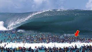 أكبر تسونامي في العالم , شاهد ماذا حدث شيء لا يصدق