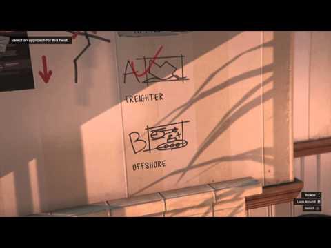 Grand Theft Auto V: Planning the second heist: Plan B Offshore heist