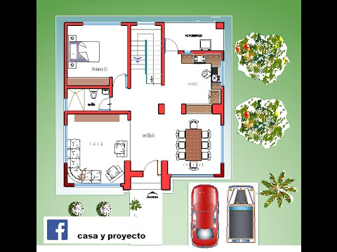 Plano Casa De 2 Pisos Terreno 20 X 20 Youtube