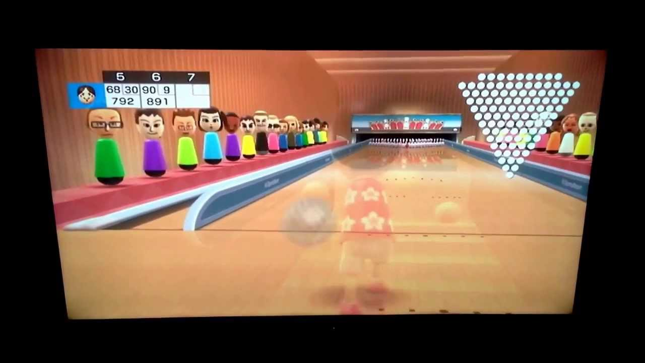 5 Pin Bowling Youtube 2000 Isuzu Npr Fuel Pump Wiring Diagram Wii Sports Resort- 100 Pin- Super Strike Stamp, Score: 1576 -