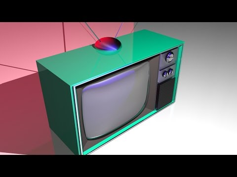 Maya tutorial : How to model a 1950's style television