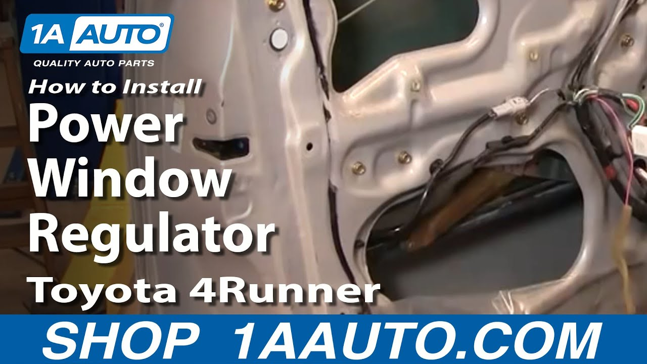 maxresdefault how to install replace power window regulator toyota 4runner 96 02  at aneh.co