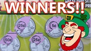WINNERS!!..IRISH EYES WERE SMILING!!..ON THESE LOTTERY TICKET WINS!!
