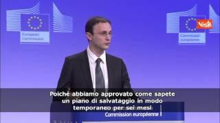 BRUXELLES COMMISSIONE EUROPEA SU MPS SIAMO IN CONTATTO CON ITALIA - Agenzia Vista