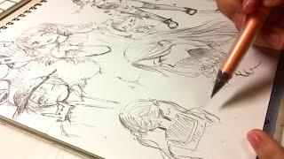Download lagu 【アナログ】自由に〜女の子たち描いてみた🍊【1ページ】