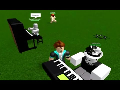 Crazy Good Piano Guy On Roblox Plays Megalovania And More Youtube