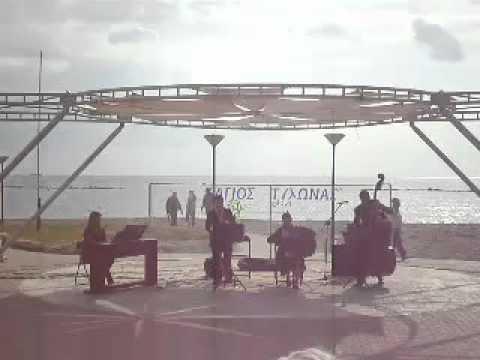 Music in Cyprus ROMANTIC QUARTET On the beautiful Blue Danube.avi