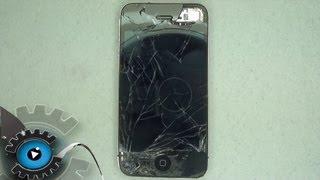 iPhone 4 Glas Digitizer Display Wechseln Tauschen unter 50€ Reparieren [German/Deutsch]Disassembly