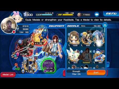 Kingdom Hearts Union X: Stroke of Midnight Adamantite Ore Quest 1 - 5 Complete!