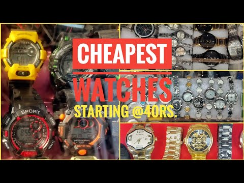 Cheapest Replica Watch market in Delhi | Lajpat Rai Market, Chandni Chowk | G-Shock, Police, Armani.