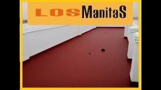 arreglar terraza con pintura de caucho LOS MANITAS.