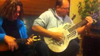 Tim and Anna Chandler play the blues