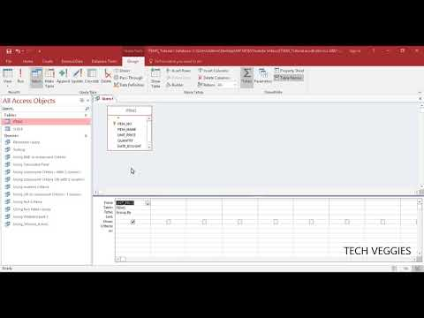 How to use Aggregate Functions such as Sum and Average in MS Access Queries | Tech Veggies