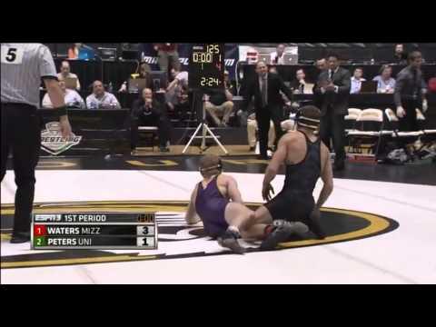 Alan Waters (Mizzou) Vs Dylan Peters (UNI) 125 Lb MAC Championship Final 2015
