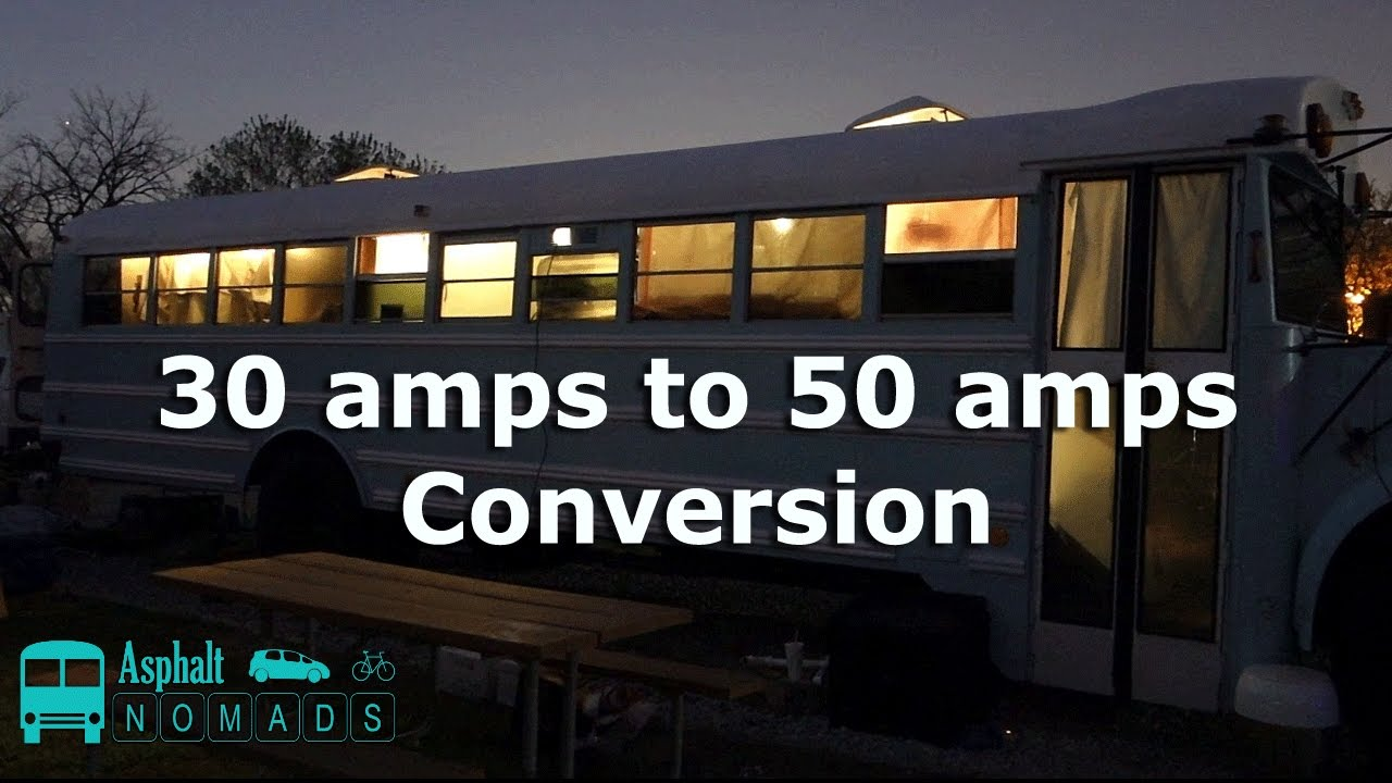 30 Amp Rv Converter 50 To Adapter Wiring Diagram Amps Conversion Youtube