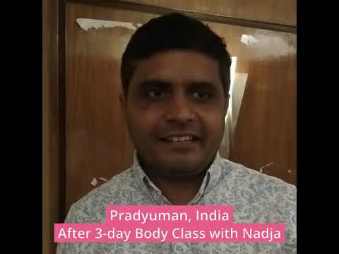 Testimonial after a 3-day Body Class with Nadja in India - Pradyuman