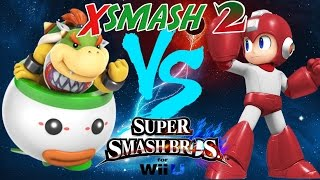 XSmash 2 - Tweek (Bowser Jr) vs Zucco (Megaman)