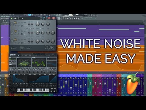 How To Make a White Noise Riser in FL Studio 12 - EASY Method - FL Studio 12 Basics
