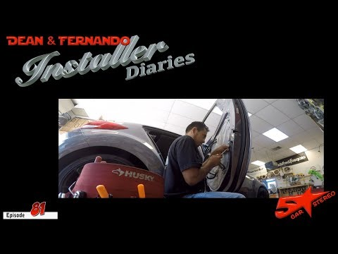 Fernando is taking point on this Dodge Caliber.  Install Diaries 81