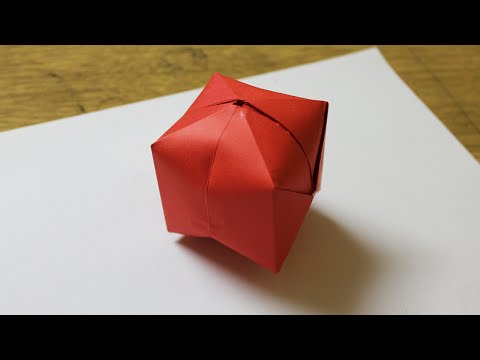 How to make origami ball step by