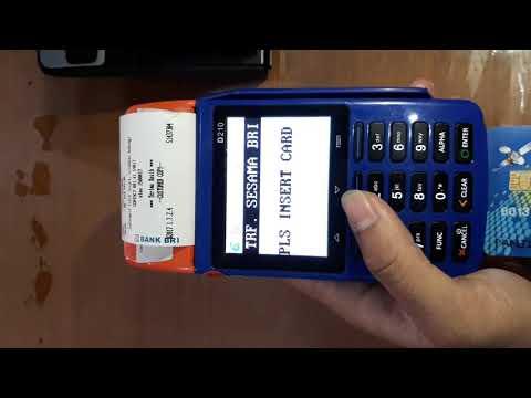 cara penggunaan kartu atm BRI berchip / terbaru di mesin EDC AGEN BRIlink