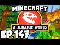 Jurassic World: Minecraft Modded Survival Ep.147 - DINOSAURS, BEES, FLESH & BONES!! (Dinosaurs Mods)