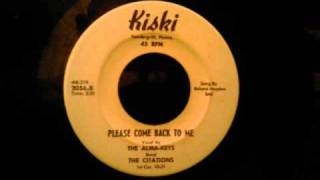 Alma - Keys - Please Come Back To Me - Very Rare Tarentum PA Doo Wop Ballad