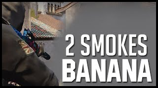 "CSGO : How to pick the 1st kill ""Banana"" on inferno - Oneway Smoke"