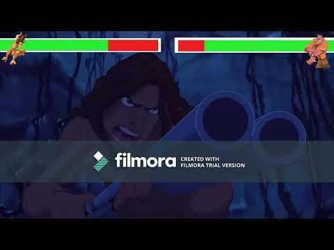 Tarzan vs Clayton with healthbars