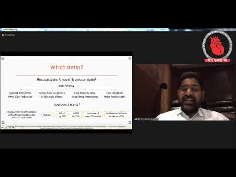 Webinar Addressing By Dr.A.Sreenivas Kumar -Topic :  High Dose Statin Therapy