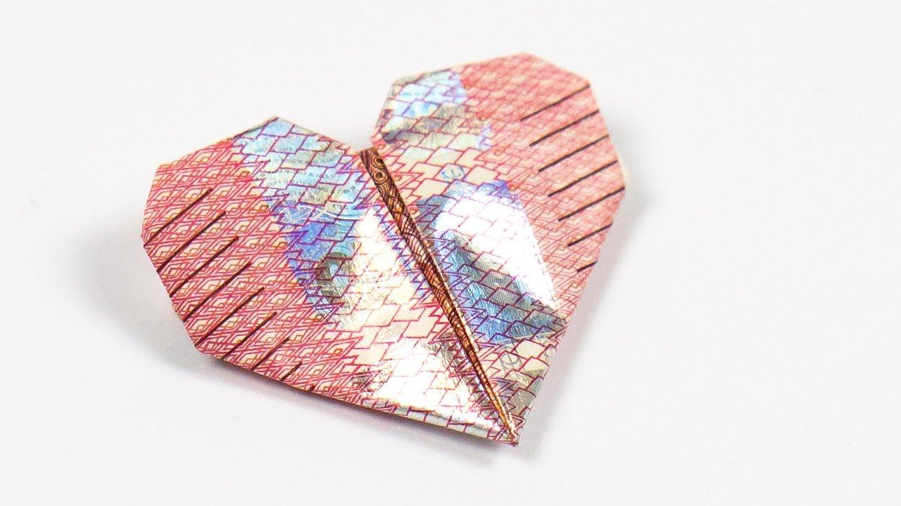 Geld Herz Falten Anleitung Um Einfach Ein Herz Aus Geld Zu Basteln
