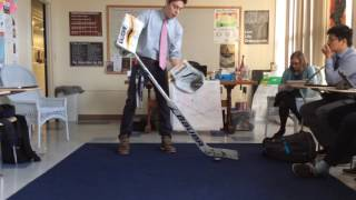 how to shoot a puck with a goalie stick
