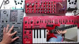 Behringer MS-101, Neutron. Strymon ElCapistan, Blue Sky. Tascam 414 Tape. Guitar. Ambient Chill Jam