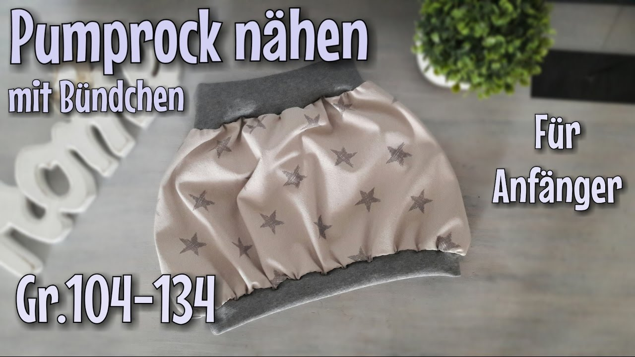 Bündchen Pumprock - Nähanleitung für Anfänger - Nähtinchen - YouTube