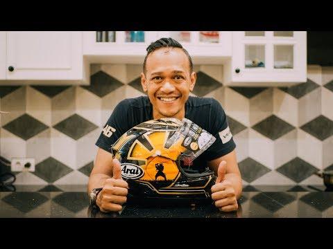 Febs78 review helm Arai Dani Pedrosa Spirit Gold 2018
