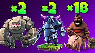TH9 GoHoPe ( Golem + Hog Rider + Pekka) War Attack Strategy | Part 2 | Clash of Clans
