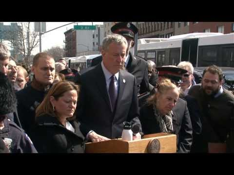 Mayor Bill de Blasio Delivers Remarks After Visit to OEM Resident Service Center