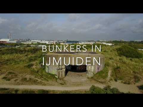 IJmuiden (Netherlands) bunkers full HD Dji mavic pro drone