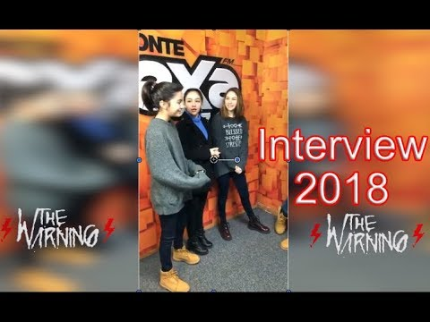 The Warning - Interview at Morning Show 2018