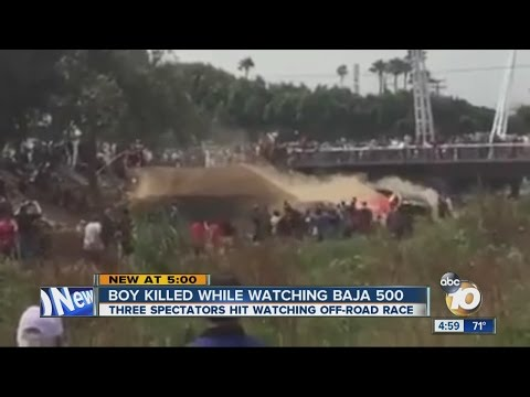 Boy killed while watching Baja 500