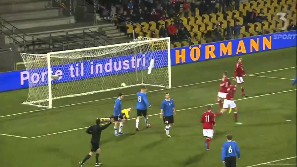 Denmark U21 8 - 0 Estonia U21 | 05-03-2014 - YouTube