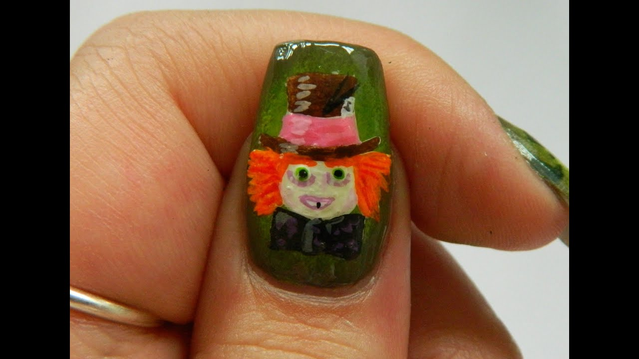 DIY - THE MAD HATTER - NAIL ART TUTORIAL | NAILSBYSOFIE - alice ...