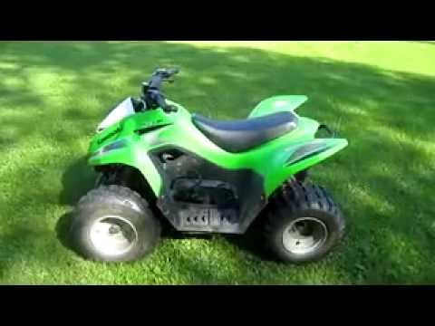 kawasaki KFX 90 quad - YouTube
