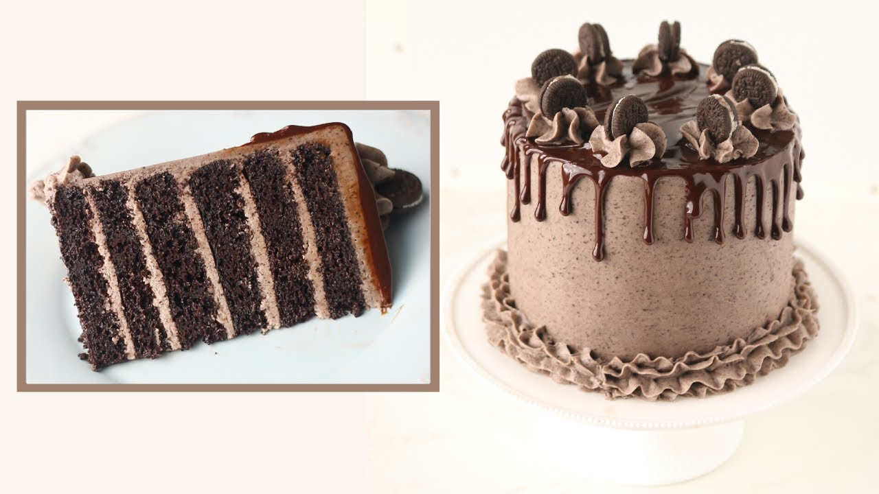 ألذ كيكة أوريو بطريقة سهلة للمبتدئين Oreo Cake Youtube Cooking Cake Cake Chocolate