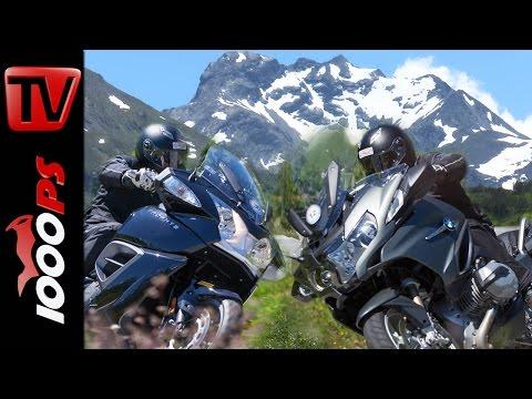 2015 Reise Tourer Test Alpen   BMW R 1200 RT, Triumph Trophy SE Foto